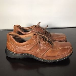 Clarks brown Leather Casual Dress men Sz 11 M